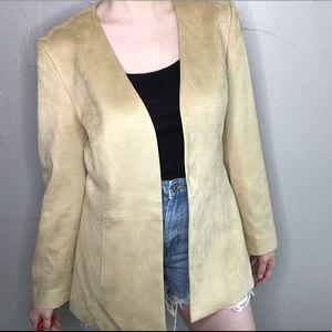 Talbots Tan Soft No Close Open Blazer Size 8 A20